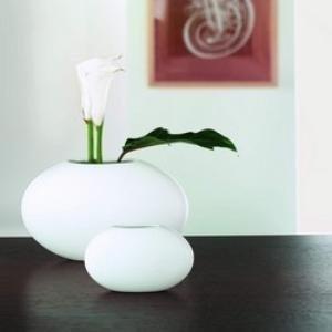 ASA 91211005 Vase Keramik, 18 x 28 x 10 cm, weiß