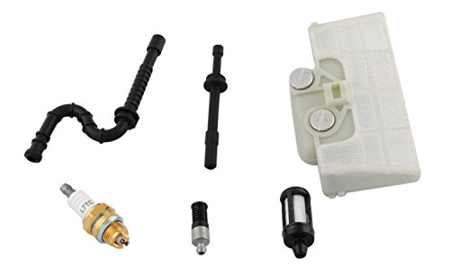 MS290 029 MS310 MS390 039 Chainsaw Parts for Stihl - Air /Oil/ Fuel Filter + Fuel /Oil Line + Spark Plug Kit by Wadoy