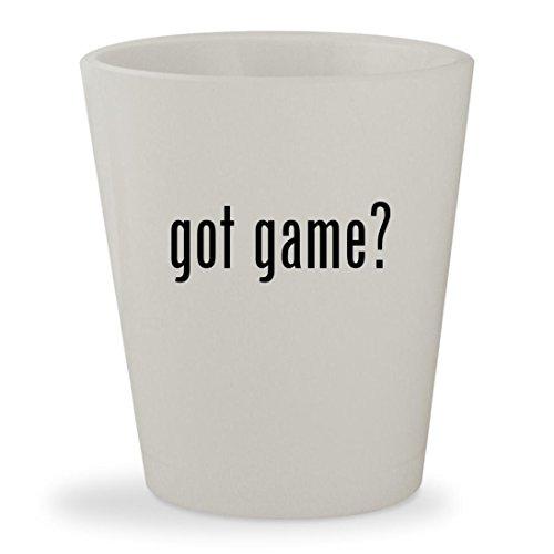 Got Game    White Ceramic 1 5Oz Shot Glass