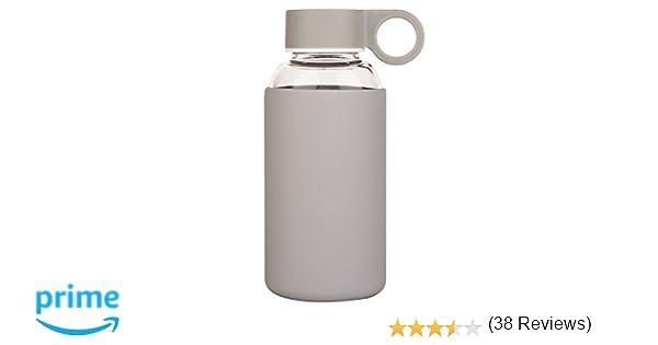 Justfwater Deporte Botella de Agua de Cristal con Funda de ...
