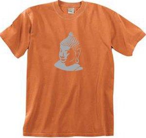 buddha buddhist yoga meditation adult tshirt burnt orange color small