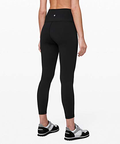 Lululemon Women's Wunder Under Stretchy Fitness Pants - High Rise Leggings, Sweat-Wicking Fabric, Firming Support, 25 Inch Inseam, Black, Size 6