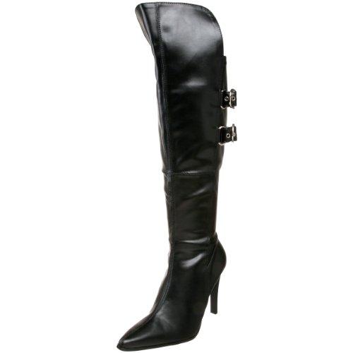 [Funtasma by Pleaser Women's Pirate-125X Boot,Black Polyurethane,9 M US] (Pirate Costumes Footwear)