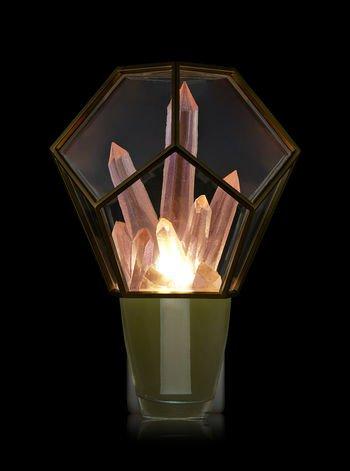 Bath and Body Works Crystal Terrarium Nightlight Wallflowers Fragrance Plug.