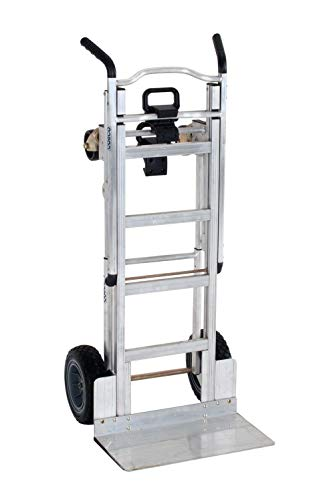 Cosco 3-in-1 Aluminum Hand Truck/Assisted Hand Truck/Cart w/ flat free wheels from CoscoProducts