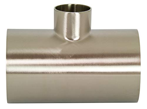 Dixon B7RWWW-G200100P Stainless Steel 304 Polished Fitting, Weld Reducing Tee, 2