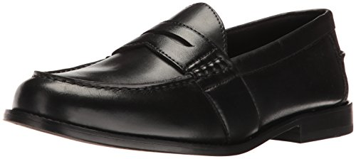Nunn Bush Men Noah Penny Loafer Dress Casual Slip On Shoe, Black, 10.5