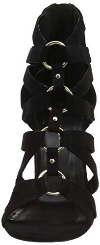 Look Tacón Punta Mujer 1 Abierta Negro Con Zapatos New Trained Para black De S1xqTTd