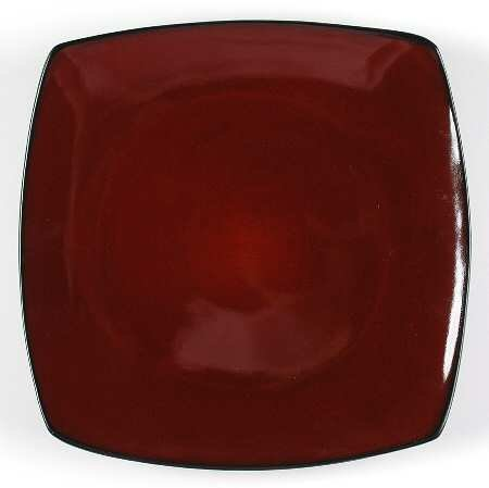 Gibson Soho Lounge Red Square Salad Plate - Set of 4
