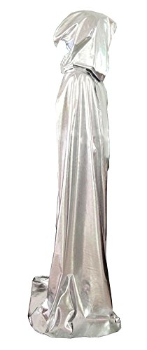 Unisex-adult Halloween Costumes Dress up Wizard Cloak God of Death Cape Silver (X-Large) (Creative Halloween Costumes For Teens)