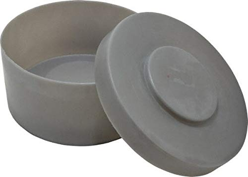 Bayhead Products - Gray Cylindrical Polyethylene Stacking Container 5'' High x 10-1/2'' Diam