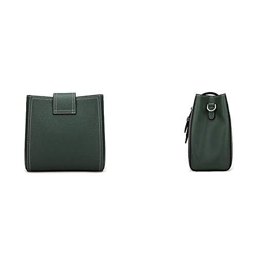 Seau AJLBT Une épaule Main Main Bandoulière Mode Simple élégant Sac Casual Green Sac Sac à Sac à SzwrfxO8Sq