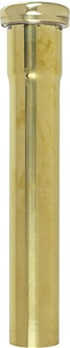 1-1/4 inch X 8 inch 17 Gauge Slip Joint Extension- Polished Unlacquered (Polished Brass Appliance)