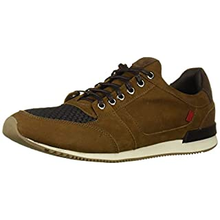 MARC JOSEPH NEW YORK Men's Leather Made in Brazil Luxury Fashion Trainer Sneaker, Tobacco Nubuck, 10 M US