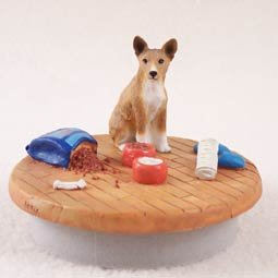Conversation Concepts Miniature Basenji Candle Topper Tiny One ''A Day at Home''
