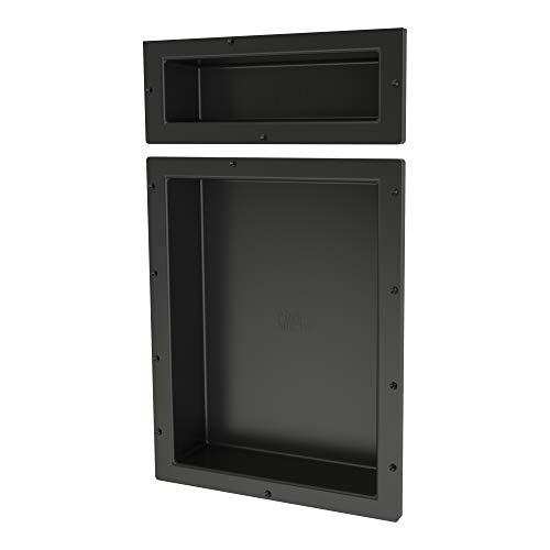 "Tile Redi USA RND166S-20 Redi Niche Dual Shelf with 20"" H Inner Shelf, 16"" W x 26"" H"