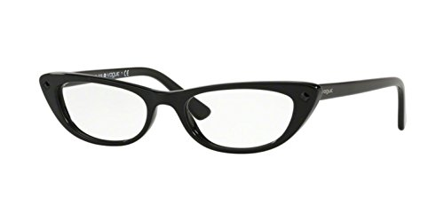 (Gigi Hadid For Vogue Eyewear VO 5236B W44 Black Plastic Cat-Eye Eyeglasses 53mm)