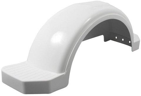 Fulton Trailer Fenders Plastic Fender, 13-Inch Tire Size, White (Plastic Trailer)