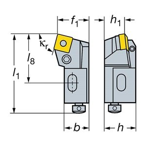 Sandvik Coromant R820D-AR18SCLC12A Slide for CoroBore 820, 2007.2 CoroPak Tool Style Code, R820.SCLC Tool Style Code by Sandvik Coromant