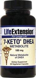 Life Extension 7-Keto DHEA capsules de 100 mg végétarienne, 60 Count