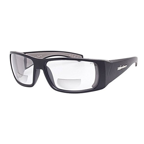 Bomber Sunglasses - Pipe Bomb Matte Black Frm/Clear Pc Safety 2.0 Bi Focal Lens/Gray Foam by Bomber