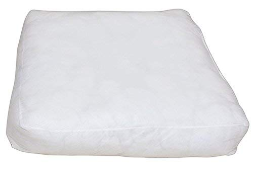 - Soft Comfortable Microfiber Pillow /Cushion Pillow Insert Sham Square Form Polyester Soft Bed Pillow Insert Form Cushion filler Work Great 4 Back,Stomach Side & Pregnant Sleepers (35 x 35 x 6 inch