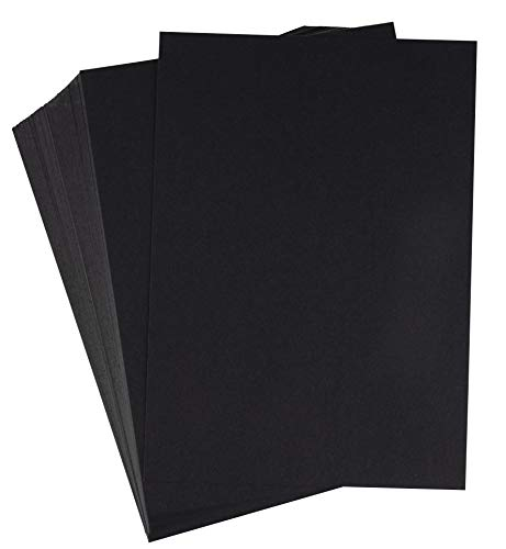 Black Cardstock - 150-Pack 5x7 Heavyweight Smooth Cardstock, 80lb 216GSM Cover Card Stock, Unruled Thick Stationery Paper, For Postcard, Invitation, Announcement, Marketing Material, 5 x 7 Inches ()