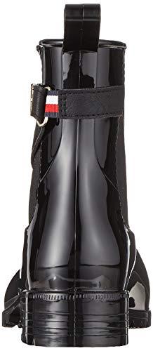 Tommy Hilfiger Damen TH Hardware Rubber Bootie Stiefeletten, Schwarz (Black 990), 40 EU 3
