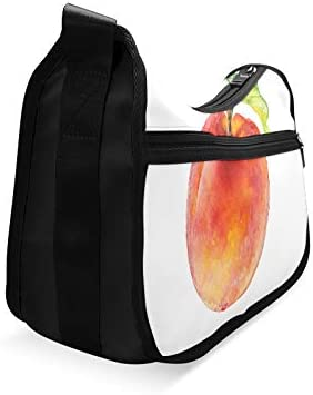 Delicious Yellow Peach Messenger Bag Crossbody Bag Large Durable Shoulder School Or Business Bag Oxford Fabric For Mens Womens