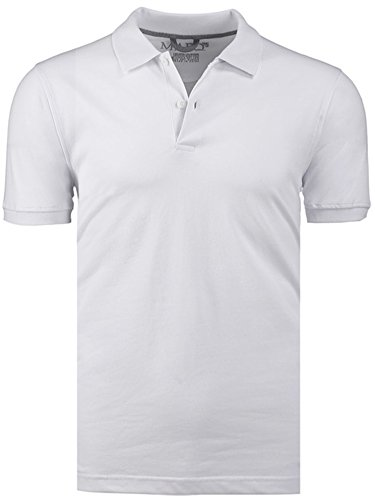 Marquis White Slim Fit Jersey Polo Shirt - Ultra Soft Fabric