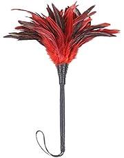 BESTOYARD Juguete de Pluma para Parejas y Amantes (Negro y Rojo)