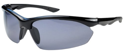 P52 Polarized Super Light Frame Sunglasses for Fishing & Active Lifestyles (Black & Smoke)
