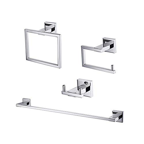 KES Bathroom Accessories Set 4 Piece SUS 304 Stainless Steel Towel Bar -
