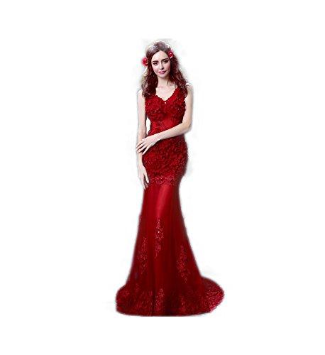 スリットコントロール反論ロングドレス演奏会 イブニングドレス結婚式 パーティードレス 二次会 披露宴 成人式 ワンピース  フォーマルドレス マーメイドワイン