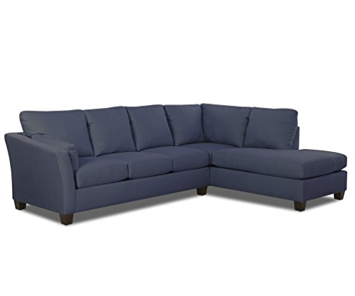 Klaussner E16 Drew Sectional Left Sofa/ Right Chaise, Ink