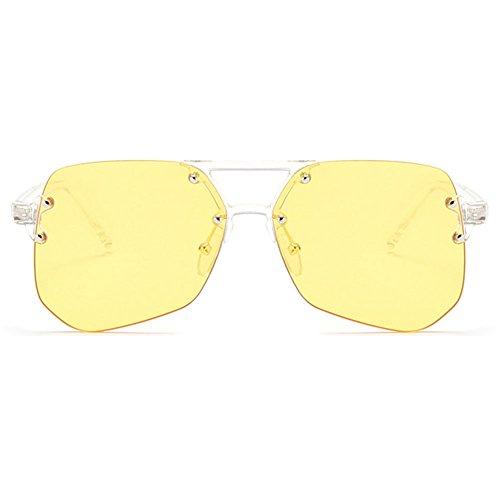 hibote Summer Style Irregular Lunettes de soleil Femme Homme UV400 Shades yellow