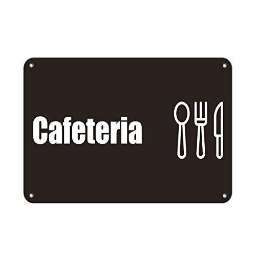 (Cafeteria Business Sign Lunch Room and Break Room Aluminum Metal Sign 8x12 inch)