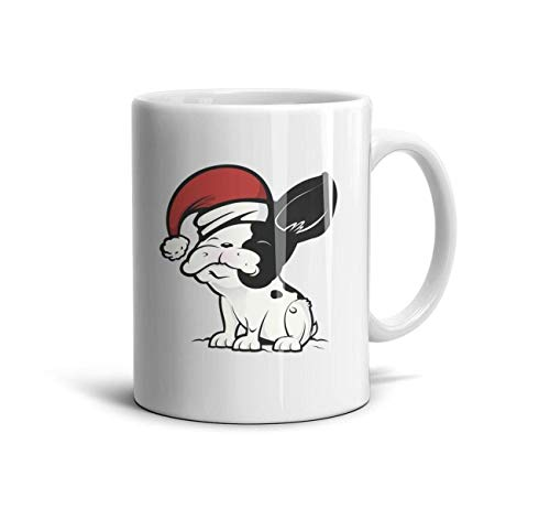 LOUTRTDF Pug Dog Reindeer Mans and Womens 11oz Coffee Mugs Daily Use Best Friend -