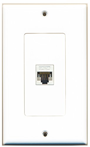 RiteAV - Cat5e Ethernet Wall Plate Decorative - 1 Port - (1 Port Cat5e Wall Plate)