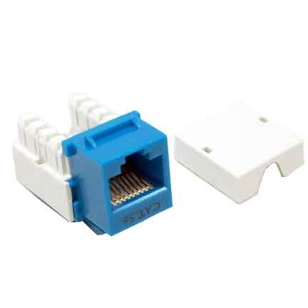 SF Cable, CAT5E Punch Down 110 Type Keystone Jack BLUE