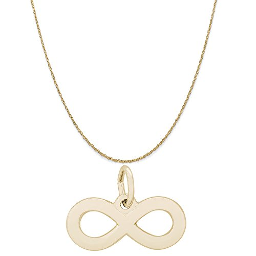 Rembrandt Charms 14K Yellow Gold Infinity Charm on a 14K Yellow Gold Rope Chain Necklace, 20'' by Rembrandt Charms