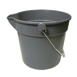 UPP-10 10 Quart Plastic Utility Pail, Polypropylene (PP) Plastic (10 Qt Plastic Pail)