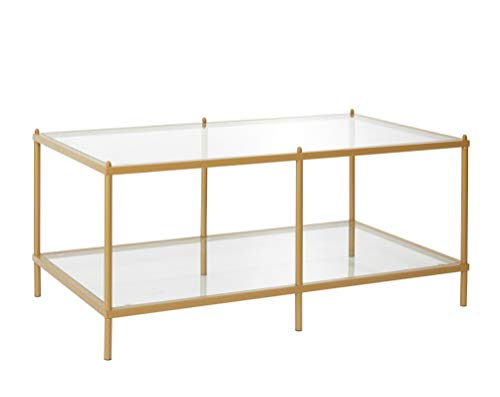 Urban Shop Gold with Mirrored Base Coffee Table (Tables Cocktail Mirrored)