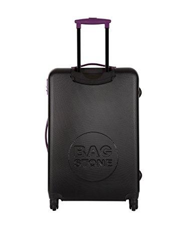 Bag Stone Trolley rígido Milady Negro / Morado Negro / Morado