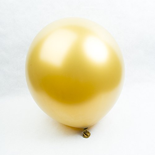 Maple City Rubber Gold Round Balloons - 24