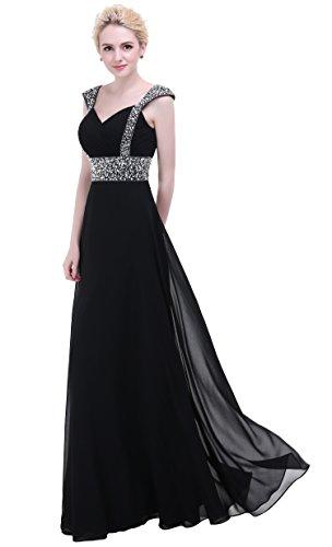 long black evening dress size 10 - 7