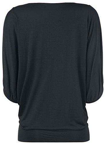 Forplay Camiseta Leisure Prenda mujer larga Negro XL