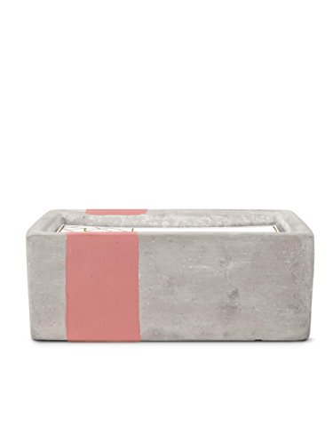 Paddywax Urban Collection 8 oz Concrete Rectangle Soy Wax Candle - 3 COTTON wicks soy wax blend made from all-natural materials and hand poured VESSEL: housed in a large sleek rectangular concrete vessel that is reusable. BURN TIME: 40-50 Hours - living-room-decor, living-room, candles - 31aP4mQByoL -
