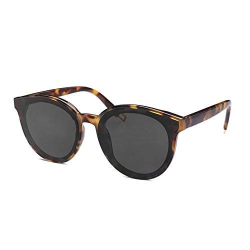 KLESIA Women's Fashion Round Sunglasses (Tortoiseshell, Black - Sunglasses Tortoiseshell Round
