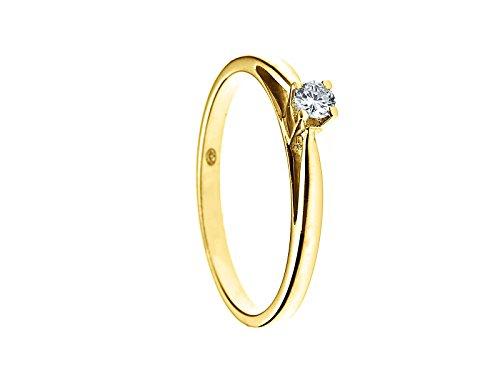 & You - Bague Solitaire - Or Jaune 18 cts - Vendôme - Diamant 0.1 cts - T48 - GLF BJ SOLO-010/48